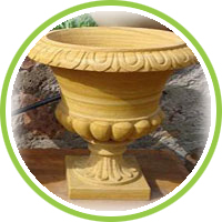 natural stone planters