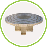 granite round table top