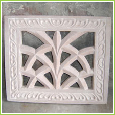 carved stone grills